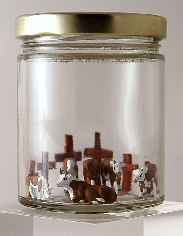 Small Protestant Cows In A Jar
