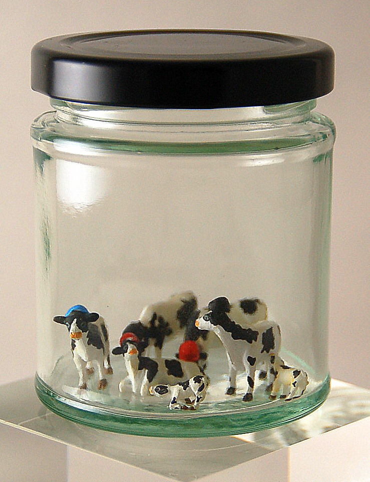 Small Jewish Cows In A Jar
